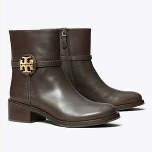 Tory Burch Shoes - Tory Burch Miller Medallion Logo Ankle Boots